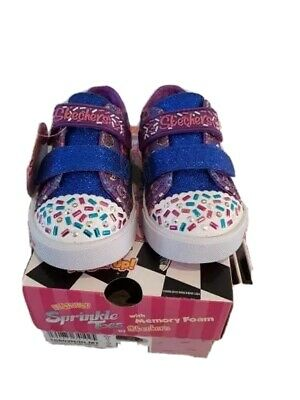 Skechers Girls Twinkle Toes: Shuffles Lite - Sparkle Pals Light Up Glittery Shoe