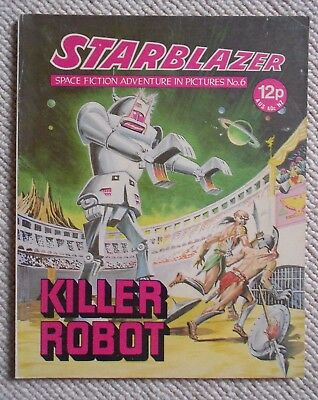 Starblazer Space Fiction Adventure In Pictures Comic No.6    1979