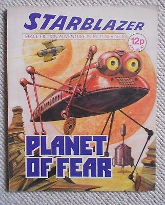 Starblazer Space Fiction Adventure In Pictures Comic No.8 1979