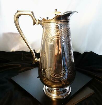 Antique Victorian silver plated coffee pot, hot water pot, aesthetic