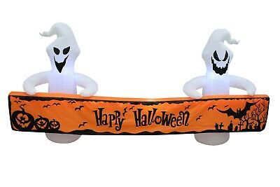Halloween LED Lighted Air Blown Inflatable Blowup Yard Decoration Ghost & Banner