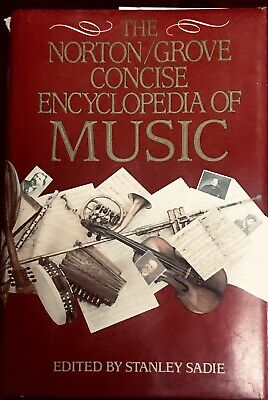 The Norton/Grove Concise Encyclopedia of Music Stanley Sadie 1988 Good Condition