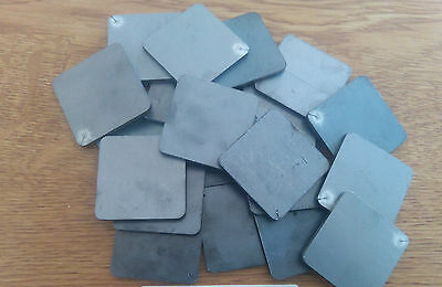 49.5mm x 49.5mm x 2mm Thick Mild Steel Rounded Corners Square Disc Sheet Plate