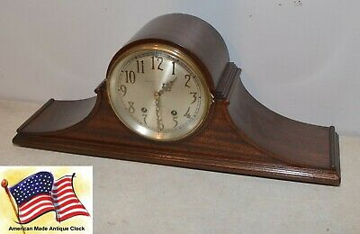 Restored Seth Thomas Tambour 12-1928 Antique Mahagony Time & Strike Clock