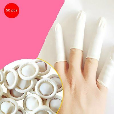 50PCS/SET Latex Anti-Static Finger Cots Disposable Eyebrow Extension Gloves DX