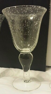 LOT OF 3:  Bubble Glass Goblet Wine Cocktail Beer Stem