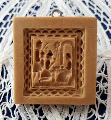 Springerle Speculaas Butter Cookie Paper Cast Print Stamp Press Mold NATIVITY 2