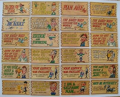 Lot Of 24 Wacky Plaks Trading Cards A&bc Printed In England 1965 Placks Plaques