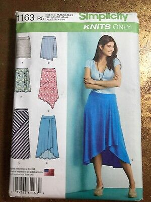 Misses 10-18 Jacket Knit Top Skirts Simplicity 1698 Plus Sewing Pattern New