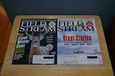 Lot of 2 Field & Stream Magazines December 2018/January 2019 February/March 2019