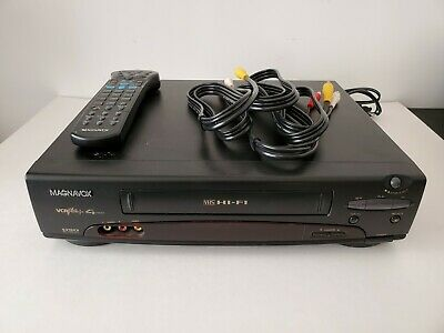 MAGNAVOX VRT462 VHS VCR Recorder Player Hi-Fi 4 Head With REMOTE & CABLES
