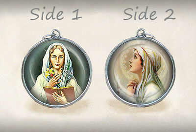 St Dymphna / Our Lady Of Mental Peace Catholic Medal Virgin Mary Pendant
