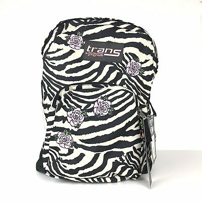 5e3e8b5b6 TRAN'S JANSPORT BACKPACK With Laptop Sleeve -Zebra & Pink Rose ...
