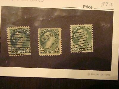 Canada #36 shades 2 cent small Queen