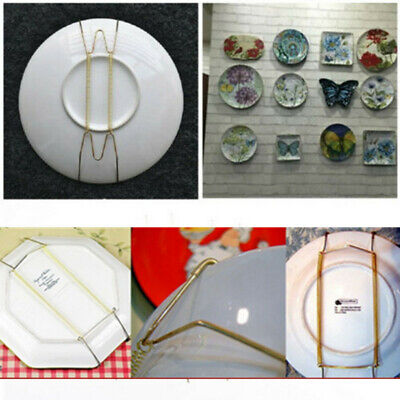 Plate Wire Hanging White Hanger Flexible With Spring Walls Display & Art Decors