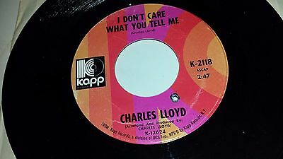 classic fit best price look out for CHARLES LLOYD I Don't Care What You Tel Me / Moonman KAPP ...