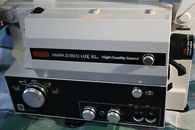 Super & Standard 8Mm Sound Movie Projector. Eumig S-810D Hqs New 100W Lamp A1
