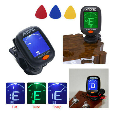 New LCD Digital Chromatic Clip-On Guitar Tuner for Acoustic Bass Violin Ukulele