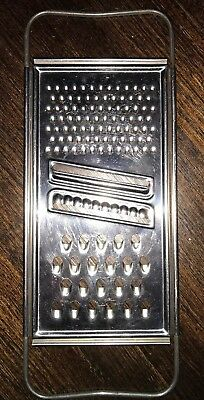 Vintage ECKO Metal Cheese / Veg Grater 10 1/2 Inches Long. Kitchen. Retro. USA