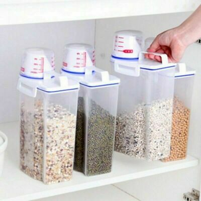 2l Storage Box High Quality Plastic Cereal Dispenser Storage Box Kitchen Food Grain Rice Containers Nice Home & Garden Bottles,jars & Boxes