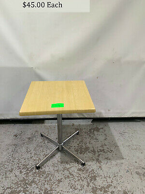 Wooden Square Top Cafe Table