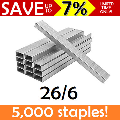 NEW IN BOX 5000x 26/6 Staples Refills School Office Reception Standard Size 26 6