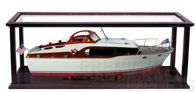 """Ship Display Case for Speed Boats length 32"""" - 35"""" with Acrylic"""