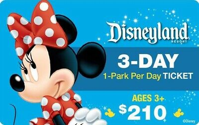DISNEYLAND CALIFORNIA ONE PARK/DAY  3TO5 DAY+MAGIC MORNING Ticket Discount TOOL