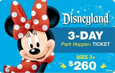 DISNEYLAND CALIFORNIA PARK HOPPER 3 TO 5 DAY+MAGIC MORNING Ticket Discount TOOL