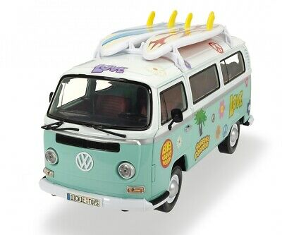 NEW Dickie Toys Summer Friction Driven VW Kombi Combi Surfer Camper Van