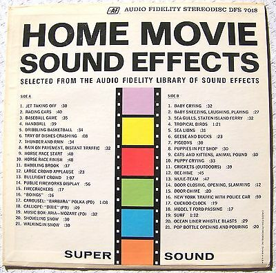 HOME MOVIE SOUND EFFECTS 1963 Audio Fidelity Stereodisc DFS 7018