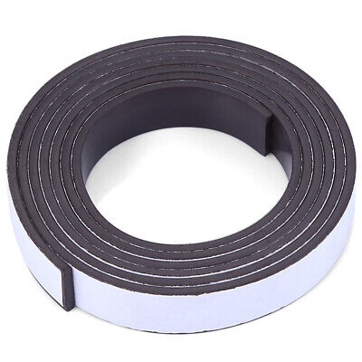 Self-Adhesive Magnetic Tape Roll Flexible Craft Sticky Magnet Strip 10 X1.5mm 1m