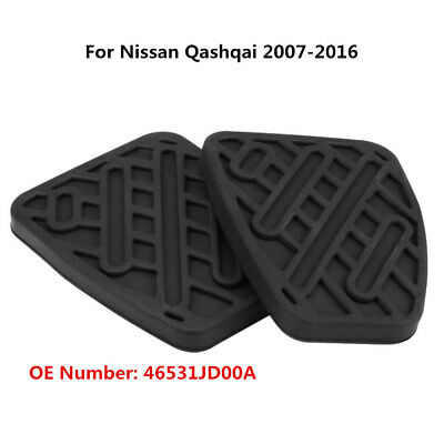Pair Brake Clutch Pedal Pad Rubber Cover for Nissan Qashqai 2007-2016 46531JD00A