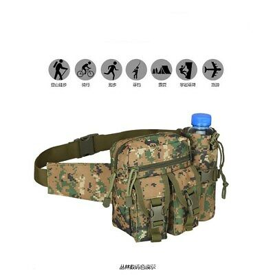 Outdoor Tactical Military Travel Hiking Water Bottle Fanny Pack Waist Bag F/Mens