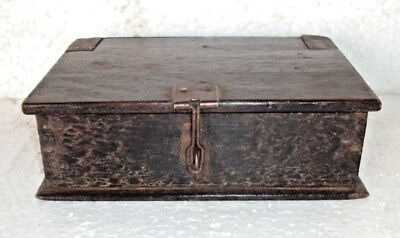 Old Wooden Box Vanity Box with Mirror Travelling Multi Purpose 3 compartment 003
