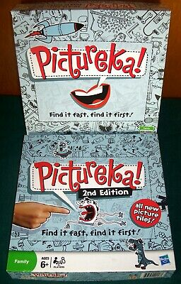 2 PICTUREKA Games - First and Second Editions - Complete - Parker Brothers