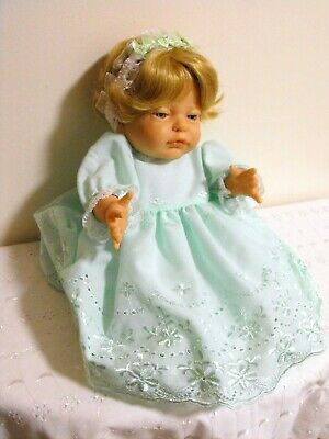 BERENGUER  HARD BODY DOLL, APPLE GREEN OUTFIT, 16 inch - 41 cm HIGH