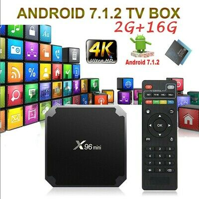 X96mini Smart Android 7.1.2 TV Box S905W Quad Core H.265 2G 16GB WiFi HD Media