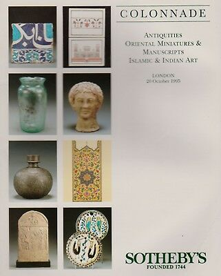 Antiquities Oriental Miniatures Manuscript Islamic Indian Art Auction Catalogue