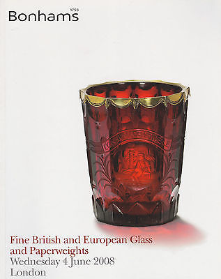 Fine British Glass & European Glass & Paperweights Auction Catalogue