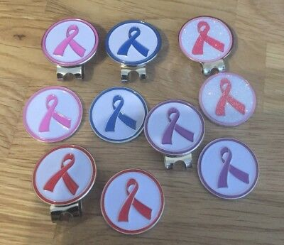 Awareness ribbon Hat / Cap clip with magnetic ball marker