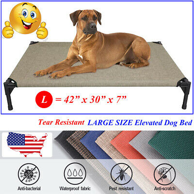 VEEHOO Elevated Dog Bed Pet Cot Large Pet Lounger Sleeper Hammock for In/Outdoor