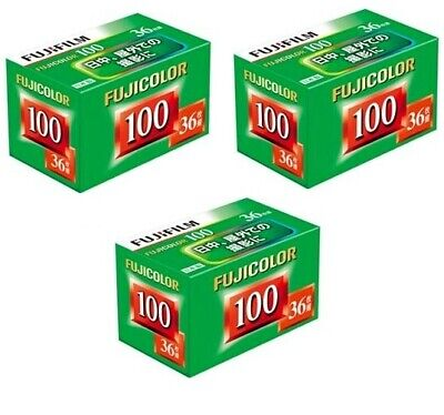 3 Rolls x FUJI Fujifilm Fujicolor ISO 100 36exp 35mm Color Negative Print Film