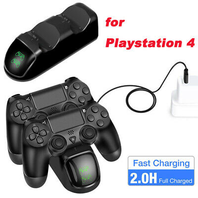 Dual Controller Fast Charger Charging Dock Station Stand Dualshock Base for PS4