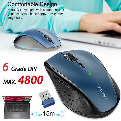 3ce6ee30a9a TeckNet 4800 DPI Wireless Gaming Mouse 2.4G Cordless Optical Mice for PC  Laptop