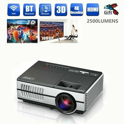 2019 EUG Mini Android Wifi Bluetooth LED 3D Projector HD 1080p Home Cinema HDMI