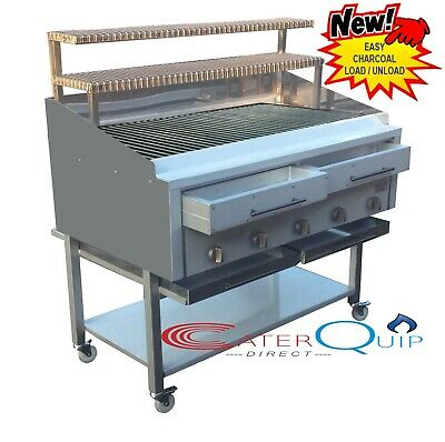 5 Burner Gas Charcoal, Wood Burning Bbq Char Grill Heavy Duty For Commercial Use