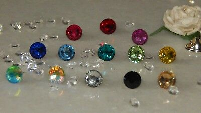S/P or G/P Tie Tack/Cravat/Scarf/Modesty Pin & 8mm Resin Stones
