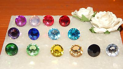 G/P  Tie Tack Pin/Cravat/Scarf/Lapel/Modesty Pin & 10mm Faceted Resin Stones