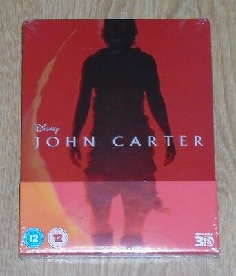 John Carter 3D - Steelbook - blu-ray. New and sealed, UK release.